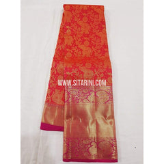 Kanchipuram Pattu Saree-Red-Sitarini-SITKSS179