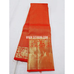 Kanchipuram Pattu Saree-Red-Sitarini-SITKSS180