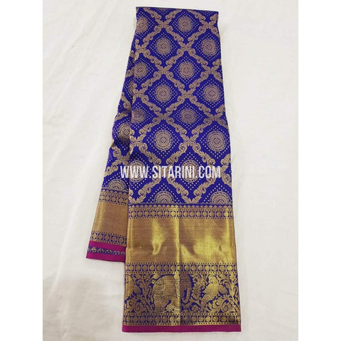 Kanchipuram Saree-Pattu-Blue-Sitarini-SITKSS109