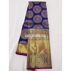 Kanchipuram Saree-Pattu-Blue-Sitarini-SITKSS115