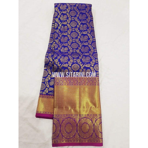 Kanchipuram Saree-Pattu-Blue-Sitarini-SITKSS144