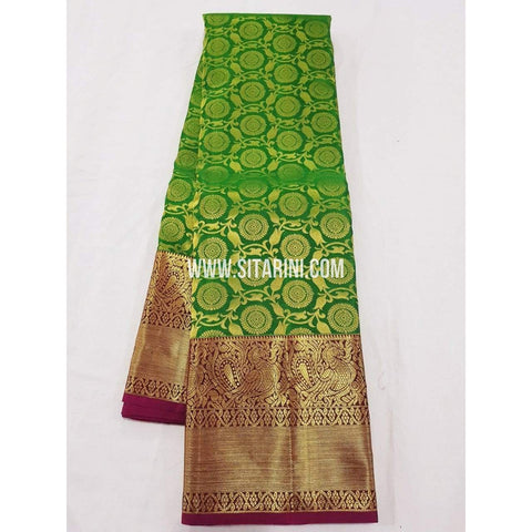 Kanchipuram Saree-Pattu-Green-Sitarini-SITKSS121