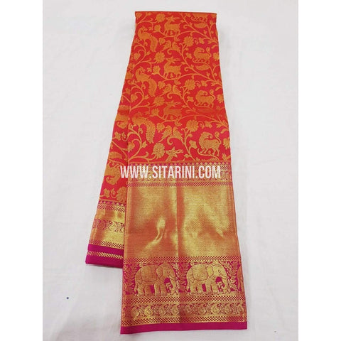 Kanchipuram Saree-Pattu-Multicolor-Sitarini-SITKSS120