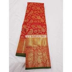 Kanchipuram Saree-Pattu-Red-Sitarini-SITKSS100