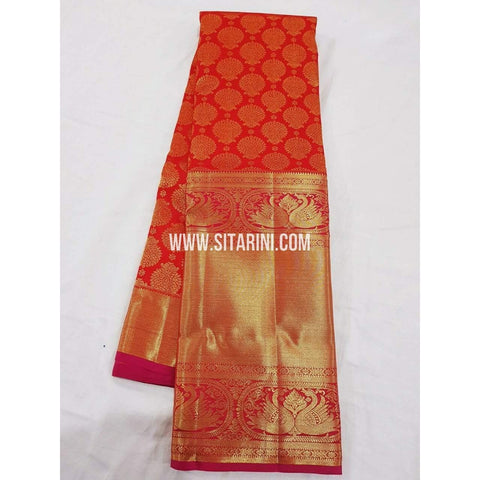 Kanchipuram Saree-Pattu-Red-Sitarini-SITKSS126