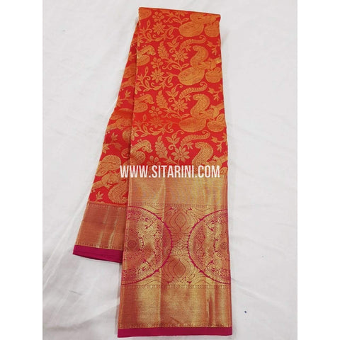 Kanchipuram Saree-Pattu-Red-Sitarini-SITKSS128