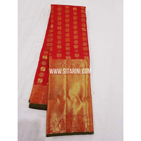 Kanchipuram Saree-Pattu-Red-Sitarini-SITKSS130