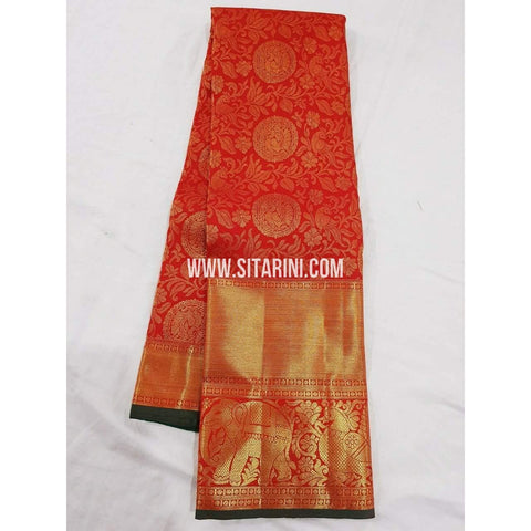 Kanchipuram Saree-Pattu-Red-Sitarini-SITKSS141