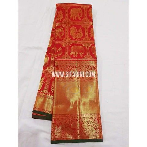 Kanchipuram Saree-Pattu-Red-Sitarini-SITKSS143