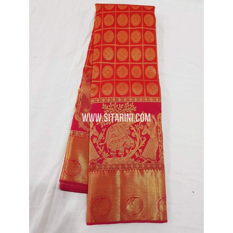 Kanchipuram Saree-Pattu-Red-Sitarini-SITKSS146