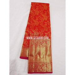 Kanchipuram Saree-Pattu-Red-Sitarini-SITKSS152
