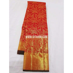 Kanchipuram Saree-Pattu-Red-Sitarini-SITKSS153