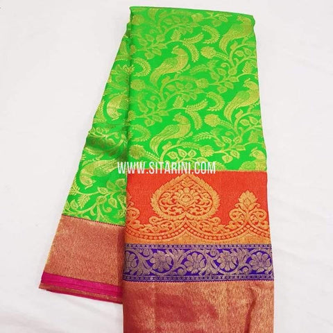 Kanchipuram Silk Saree-Green-Sitarini-SITKSS270