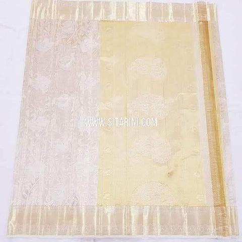 Kanchipuram Silk Saree-Off White-Sitarini-SITKSS250