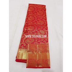 Kanchipuram Silk Saree-Red-Sitarini-SITKSS184