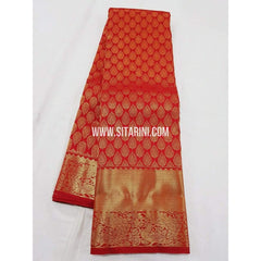 Kanchipuram Silk Saree-Red-Sitarini-SITKSS194
