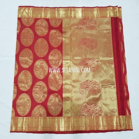 Kanchipuram Silk Saree-Red-Sitarini-SITKSS254