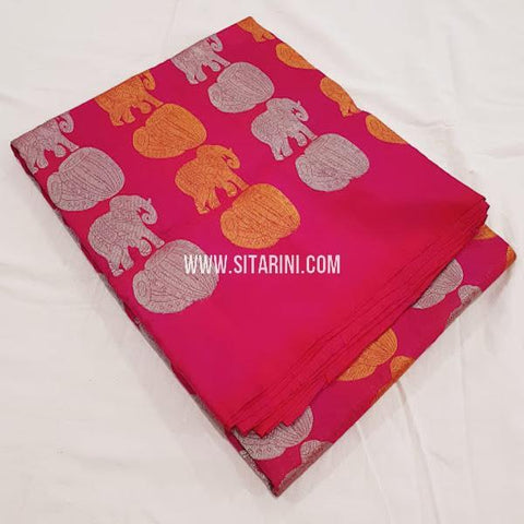 Kanchipuram Soft Silk Saree-Red-Sitarini-SITKSOSS172