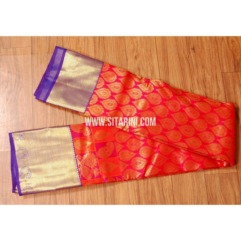 Kanjeevaram Pattu Saree-Red-Sitarini-SITKSS217