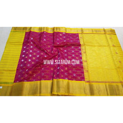 Kuppadam Checks Saree with Buttas-Multicolour-Sitarini-SITKUS133