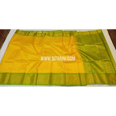 Kuppadam Pattu Saree-Mangoyellow and Green-Sitarini-SITKUS330