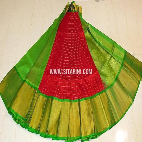 Kuppadam Pattu Saree-Red-Sitarini-SITKUS648
