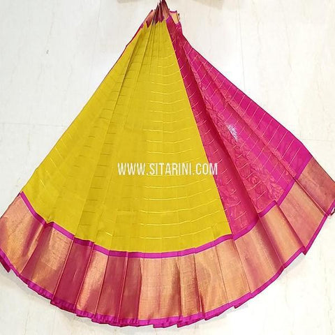Kuppadam Pattu Saree-Yellow-Sitarini-SITKUS647