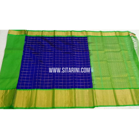 Kuppadam Pattu Sarees-Royal Blue And Green-Sitarini-SITKUS416
