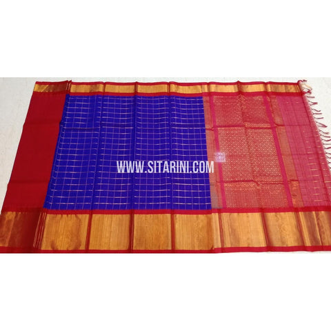 Kuppadam Pattu Sarees-Violet And Red-Sitarini-SITKUS413