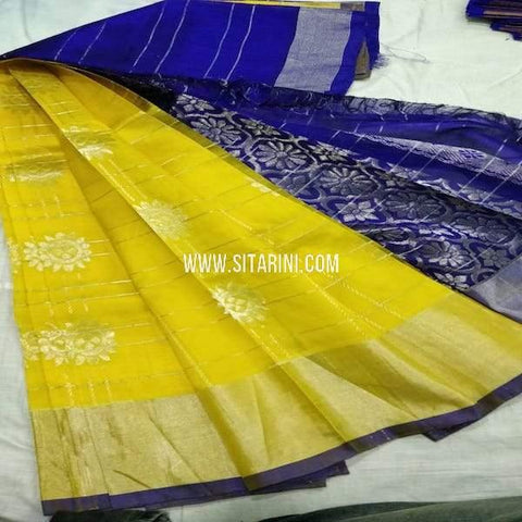 Kuppadam Saree-Silk-Yellow-Sitarini-SITKUS692