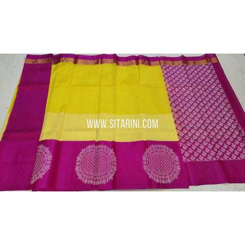 Kuppadam Saree-Yellow and Pink-Sitarini-SITKUS126
