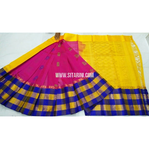 Kuppadam Sarees-Magenta and Yellow-Sitarini-UMKHKPS110