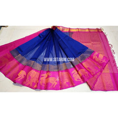 Kuppadam Sarees-Royal Blue and Magenta-Sitarini-UMKHKPS123