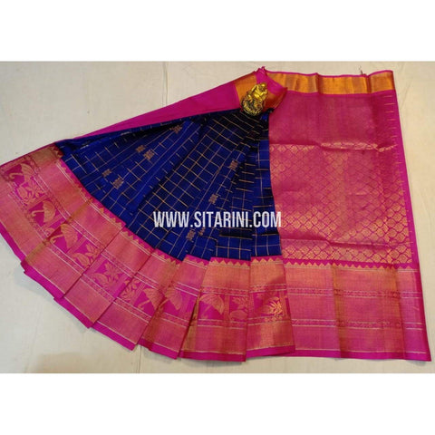 Kuppadam Silk Saree-Blue and Pink-ULVHKS101