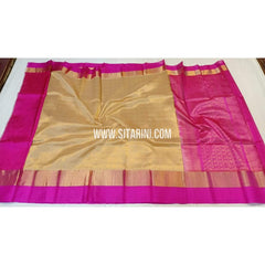 Kuppadam Silk Saree-Gold and Pink-Sitarini-SITKUS259
