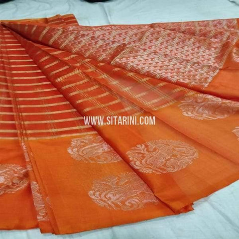 Kuppadam Silk Saree-Orange-Sitarini-SITKUS672