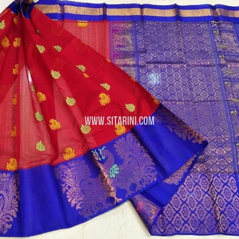 Kuppadam Silk Saree-Red-Sitarini-SITKUS547