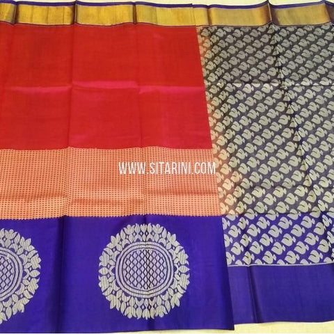 Kuppadam Silk Saree-Red-Sitarini-SITKUS548