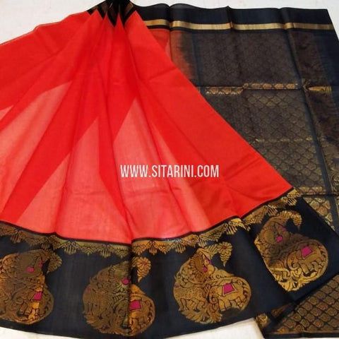 Kuppadam Silk Saree-Red-Sitarini-SITKUS549