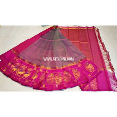 Kuppadam Silk Saree-Shaded Blush and Magenta-Sitarini-UMKHKPS148