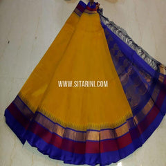 Kuppadam Silk Saree-Yellow-Sitarini-SITKUS607