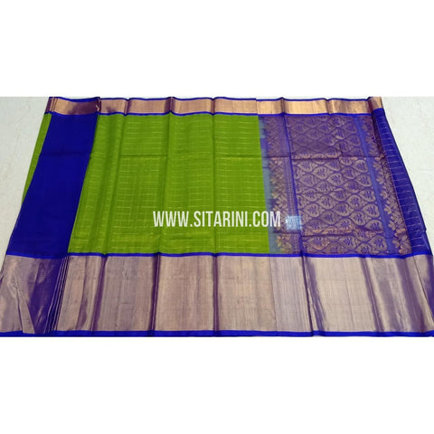 Kuppadam Silk Sarees-Green And Blue-Sitarini-SITKUS406