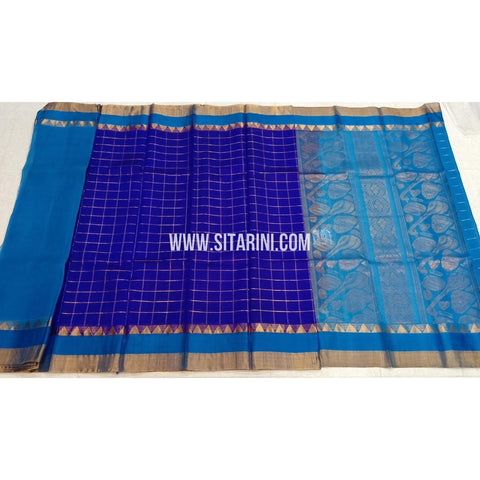Kuppadam Silk Sarees-Royal Blue And SkyBlue-Sitarini-SITKUS424