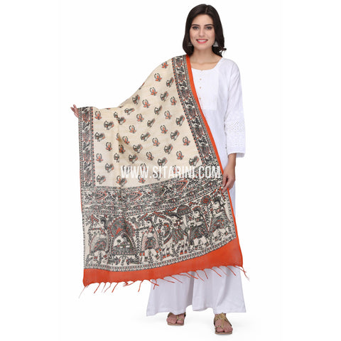 Madhubani Dupattas-Cotton-Multi Color-Sitarini-LWTCD118
