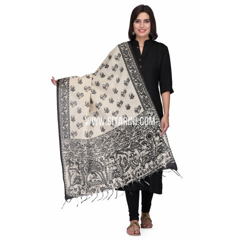 Madhubani Dupattas-Cotton-Multi Color-Sitarini-LWTCD122