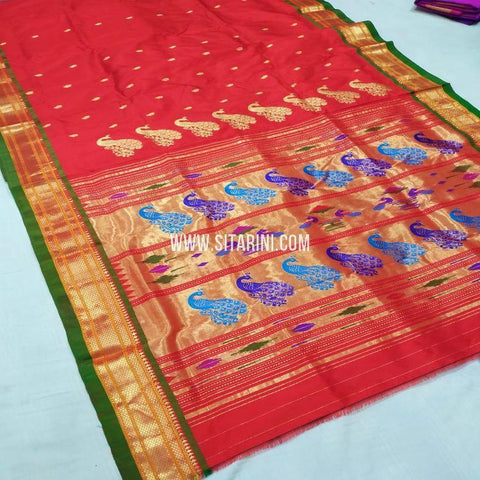Paithani Saree-Pattu-Red-Sitarini-SITPSS270