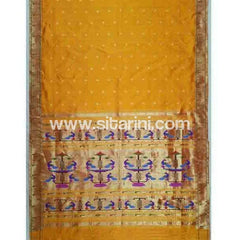 Paithani Silk Saree-Yellow-Sitarini