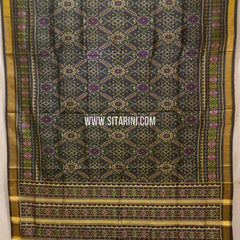 Patola Silk Saree-Single Ikkat-Multicolor-Sitarini-SITRPS263