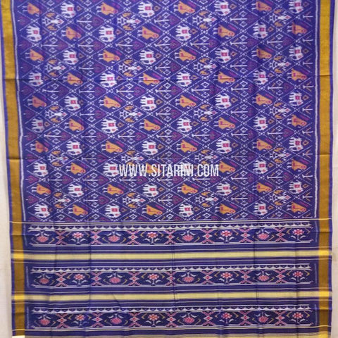 Patola Silk Saree-Single Ikkat-Multicolor-Sitarini-SITRPS266