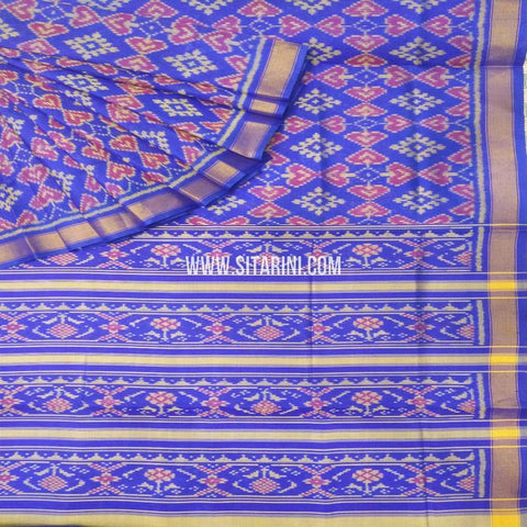 Patola Silk Saree-Single Ikkat-Multicolor-Sitarini-SITRPS273